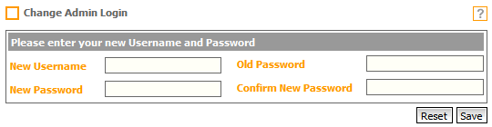 Fig. 1 - Old Change Admin Login Page