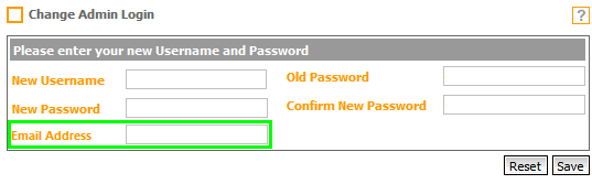Fig. 2 -  New Change Admin Login Page