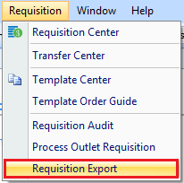 Requisition Export