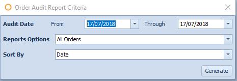 Fig. 01 - Order Audit Report Criteria