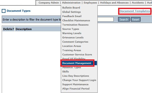 Fig 1 - Document Management Link