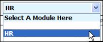 Fig. 1 - Module drop down