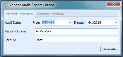 Vendor Audit Report Criteria