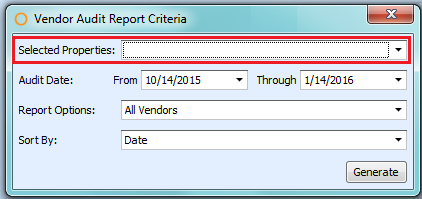 Vendor Audit Report Criteria CP