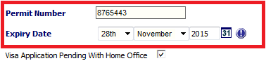 Fig 7 - Updated Expiry Date on Work Permit