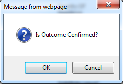 Fig 8 – Confirmation Dialogue Box