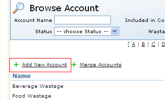 Fig 2- Add New Account Link