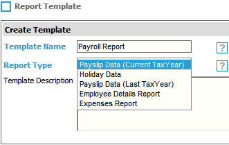 Fig 5 - Payroll Report Types