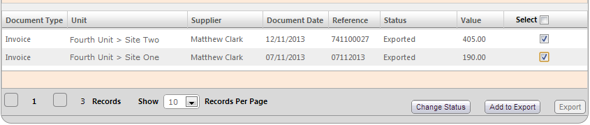 Fig 8 - Select Documents to Update