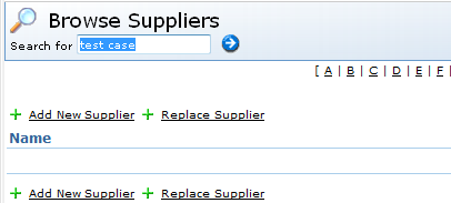Supplier removed from database