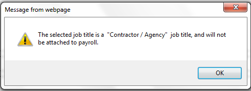 Fig 2 - Contractor/Agency Warning