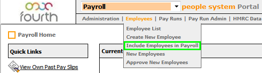 Fig 9 - Include Employees in Payroll Option