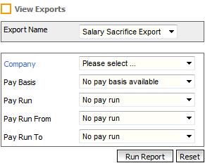 Fig 7 - Salary Sacrifice Export