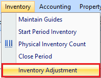 Inventory Adjustment access right