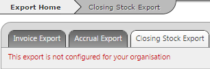 Fig 2 - Export Unavailable