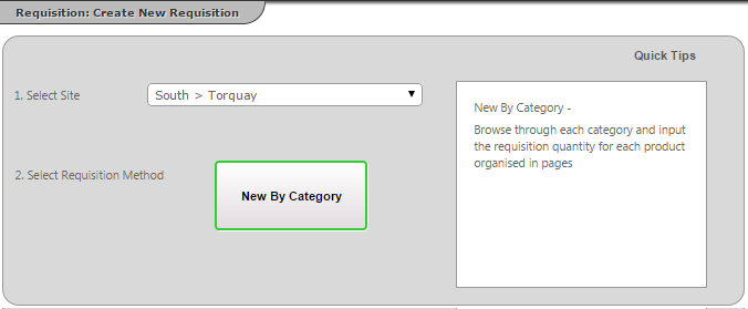 Fig 2 - Create a Requisition Options