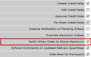 Fig.3 -  Template options for Templates unable to approve Over Maximum Orders