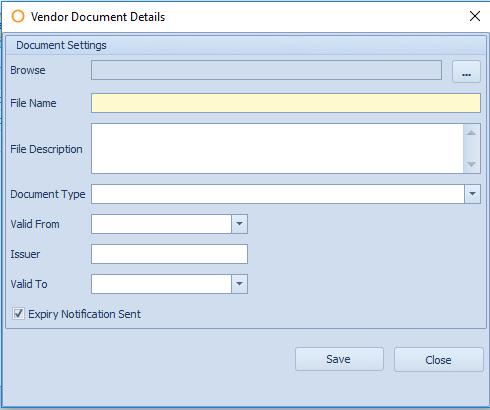 Fig. 10 - Vendor Document Details