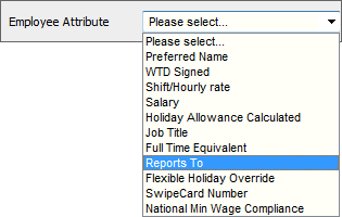 Fig 3 – Selecting Employee Attribute