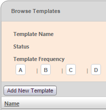 Fig 2 – Add New Template Button
