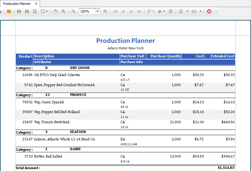 Print Production Planner