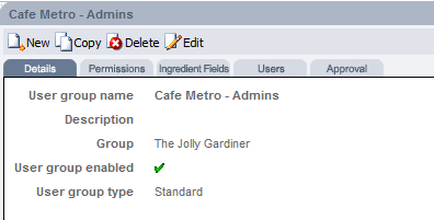 Fig 4 - Selected User Group