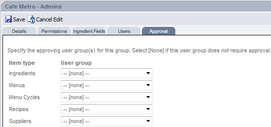 Fig 7 - User Group Approvals