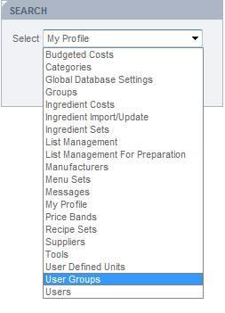 Fig 2 - User Group Option