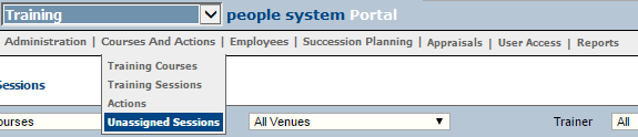 Fig 2 - Unassigned Sessions Option