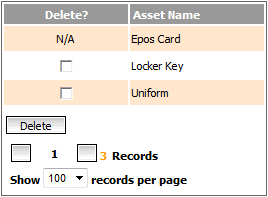 Fig 3 – Delete an Asset