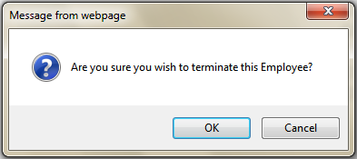 Fig 5 - Terminate Employee Confirmation
