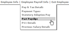 Fig 5 - Employee payroll dropdown