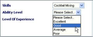 Selecting Ability Level