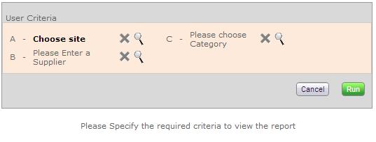 User Criteria