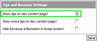 Fig 2 – Edit Rota Settings