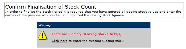 Fig.10 this shows the alert for empty closing fields