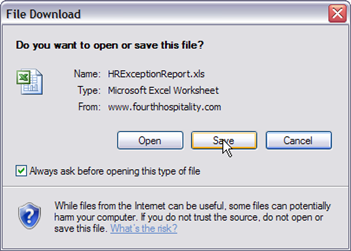 Fig. 16 - Saving excel files
