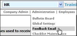 Fig. 2 - Administration drop down