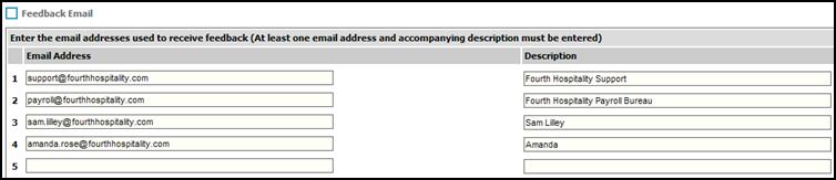 Fig. 3 - Feedback email window