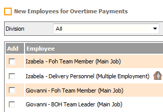 Fig 2 - Add Employees Screen After to Change