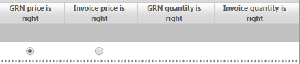 Fig 2 – GRN Price is Right Radio Button