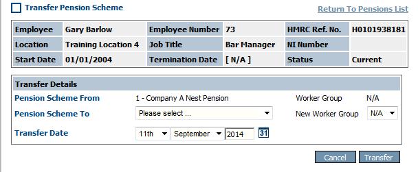 Fig 2 - Transfer Pension Scheme