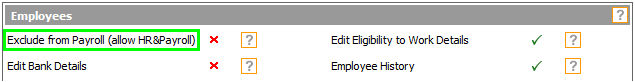 Fig 1 - Permission Within The Payroll Module