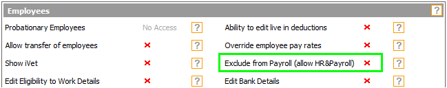 Fig 2  - Permission Within The Payroll Module