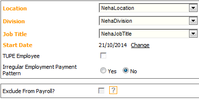 Fig 3 - Exclude From Payroll Is Greyed Out