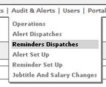 Fig. 15 - Audits & alerts drop down