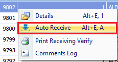 Auto-receiving Purchase Orders