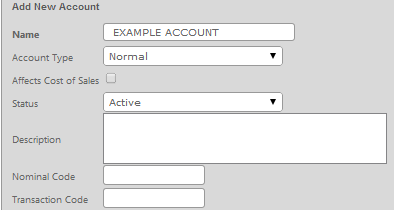 Fig 1 - New Account Details