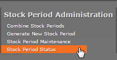Fig 2 - Stock Period Status Menu Link
