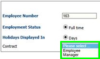 Fig 8 – Employment Details page